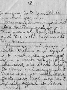 Pg 2 letter-death of Wm N. Snelson