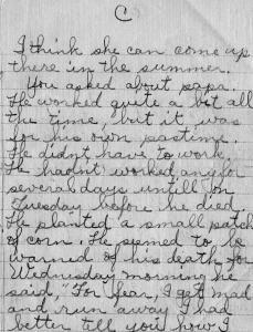 Pg 3 letter-death ofWm N Snelson