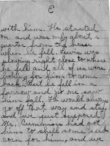 Pg 5 letter-death of Wm N Snelson
