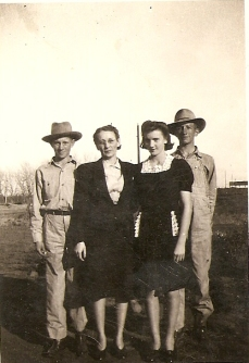 Grandma Katie and her three children, JB, Nina Vee, and my dad, Jimmie Dee Leatherwood