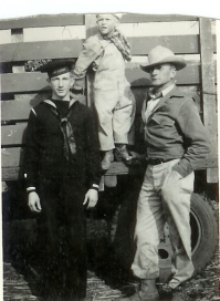 With sons, JB & Butch abt 1943