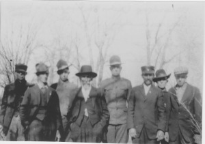 1917 Grandpap with five of seven sons.